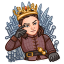 Sticker tagged throne
