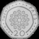Sticker tagged text: twenty pats, 20